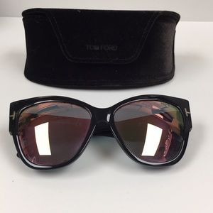 Tom Ford Cat Eye Pink Mirrored Sunglasses